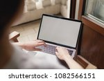 mock up of blank screen of... | Shutterstock . vector #1082566151