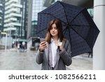 happy businesswoman using... | Shutterstock . vector #1082566211