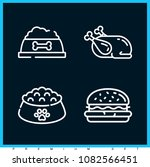 set of 4 meat outline icons... | Shutterstock .eps vector #1082566451