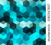 hexagon grid seamless vector... | Shutterstock .eps vector #1082567837