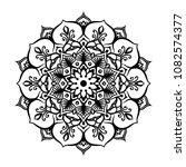 mandala tattoo design element.... | Shutterstock .eps vector #1082574377