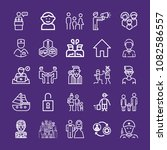 set of 25 man outline icons... | Shutterstock .eps vector #1082586557