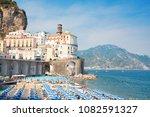 summer atrani beach with... | Shutterstock . vector #1082591327