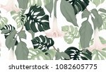 floral seamless pattern ... | Shutterstock .eps vector #1082605775