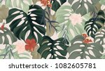 floral seamless pattern ... | Shutterstock .eps vector #1082605781