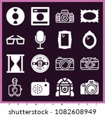 set of 16 retro filled icons... | Shutterstock .eps vector #1082608949