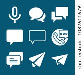 set of 9 message filled icons... | Shutterstock .eps vector #1082611679