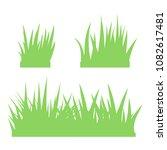 green grass on white background | Shutterstock .eps vector #1082617481