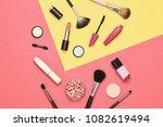 fashion cosmetic makeup set.... | Shutterstock . vector #1082619494