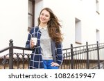 portrait of beautiful young... | Shutterstock . vector #1082619947