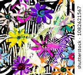 seamless geometric pattern... | Shutterstock .eps vector #1082621567