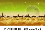 fantasy sci fi alien planet... | Shutterstock .eps vector #1082627831