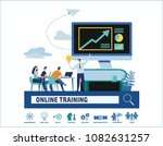 online training courses vector... | Shutterstock .eps vector #1082631257