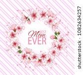 happy mother's day vector card. ... | Shutterstock .eps vector #1082634257