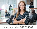 portrait of a confident female... | Shutterstock . vector #108265361