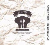 restaurant menu design on old... | Shutterstock .eps vector #108265607