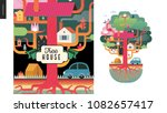 tree house concept   a tree... | Shutterstock .eps vector #1082657417