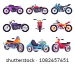 motorbikes classical collection ...   Shutterstock .eps vector #1082657651