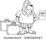 black and white illustration of ... | Shutterstock . vector #1082666567