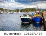 Fishing Boats Tied Up At...