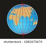 geographic coordinate system of ... | Shutterstock . vector #1082673674