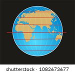geographic coordinate system of ... | Shutterstock . vector #1082673677