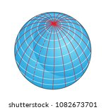 geographic coordinate system of ... | Shutterstock . vector #1082673701