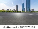 empty road with modern business ... | Shutterstock . vector #1082678105