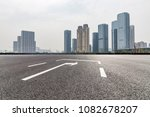 empty road with modern business ...   Shutterstock . vector #1082678207