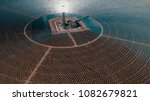 Aerial View Of Solar Power...
