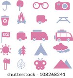 eco travel icons set  vector | Shutterstock .eps vector #108268241