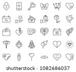 thin line icon set   rose... | Shutterstock .eps vector #1082686037