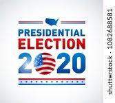 2020 united states of america...   Shutterstock .eps vector #1082688581