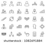 thin line icon set   business... | Shutterstock .eps vector #1082691884