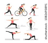 set of vector illustrations... | Shutterstock .eps vector #1082693891