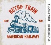 Retro Train. Vintage Locomotive ...