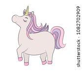 unicorn proud standing  with... | Shutterstock .eps vector #1082702909