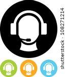operator in headset   vector... | Shutterstock .eps vector #108271214