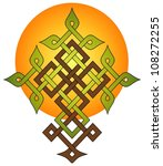 knotwork design of a tree   Shutterstock .eps vector #108272255