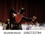 back female dancer in black... | Shutterstock . vector #1082722784
