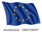 european union flag. european... | Shutterstock .eps vector #1082728397
