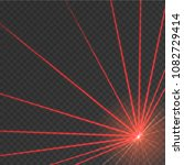 abstract red laser beam.... | Shutterstock .eps vector #1082729414