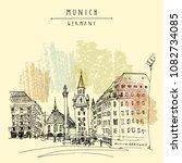 munich  bavaria  germany ... | Shutterstock .eps vector #1082734085