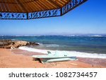 sunshade on the beach  shade on ... | Shutterstock . vector #1082734457
