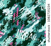 urban rider abstract camouflage ... | Shutterstock .eps vector #1082735234