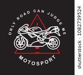 moto sport logotype. vector.... | Shutterstock .eps vector #1082739524