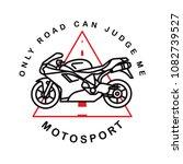moto sport logotype. vector.... | Shutterstock .eps vector #1082739527
