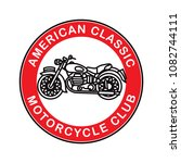 american classic motorcycle... | Shutterstock .eps vector #1082744111
