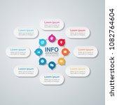 vector infographic template for ... | Shutterstock .eps vector #1082764604