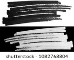 black marker with a white... | Shutterstock . vector #1082768804